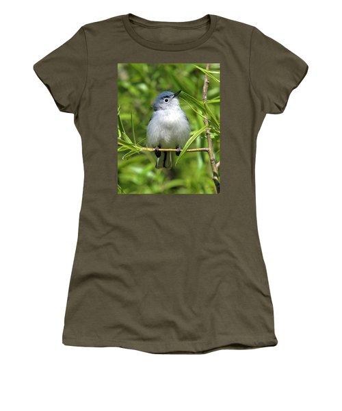 Blue-gray Gnatcatcher Dsb147 Women's T-Shirt (Junior Cut) by Gerry Gantt