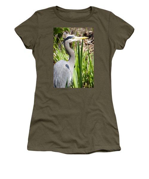 Women's T-Shirt (Junior Cut) featuring the photograph Blue Heron by Marilyn Wilson