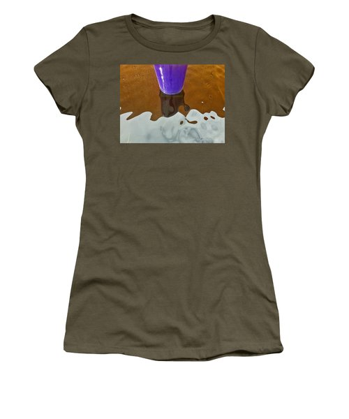 Women's T-Shirt (Junior Cut) featuring the photograph Blue Planter by David Pantuso