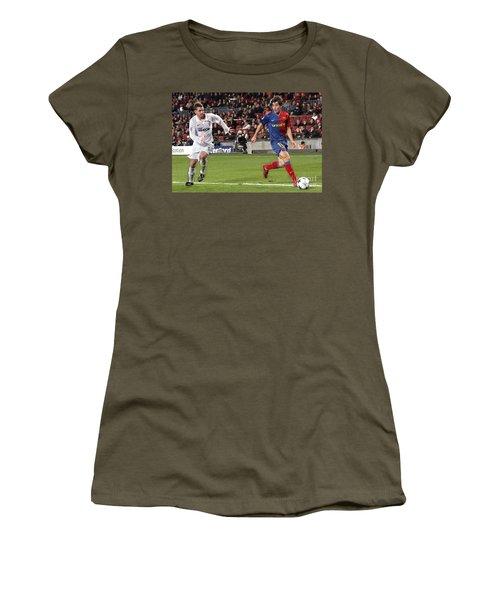 Women's T-Shirt featuring the photograph Bojan Krkic Stroke 3 by Agusti Pardo Rossello