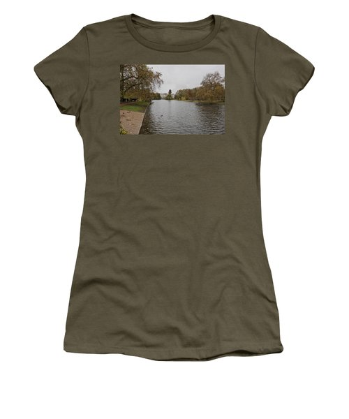 Women's T-Shirt (Junior Cut) featuring the photograph Buckingham Palace View by Maj Seda