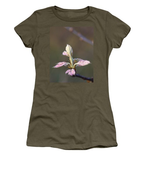Budding Oak Leaves Women's T-Shirt (Athletic Fit)