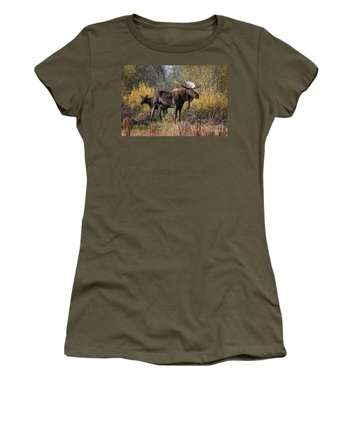 Bull Tolerates Calf Women's T-Shirt
