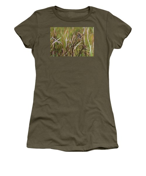 Women's T-Shirt (Junior Cut) featuring the photograph Butterfly In Flight by Fotosas Photography