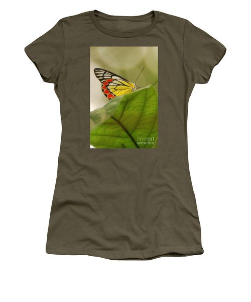 Women's T-Shirt (Junior Cut) featuring the photograph Butterfly Resting by Fotosas Photography