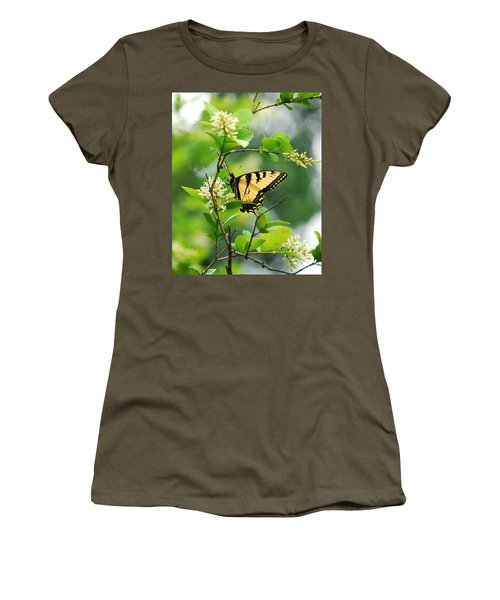 Women's T-Shirt (Junior Cut) featuring the photograph Butterfly Tiger Swallow by Peggy Franz