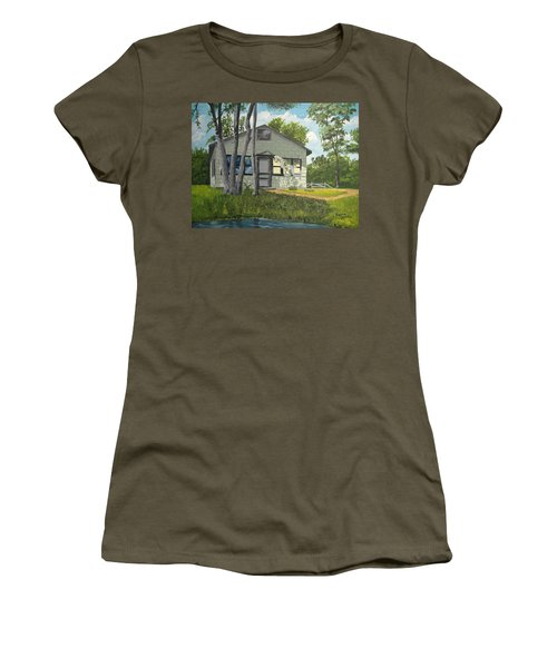 Cabin Up North Women's T-Shirt (Athletic Fit)