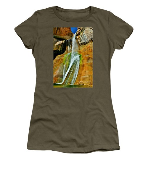 Calf Creek Falls II Women's T-Shirt (Junior Cut) by Ellen Heaverlo