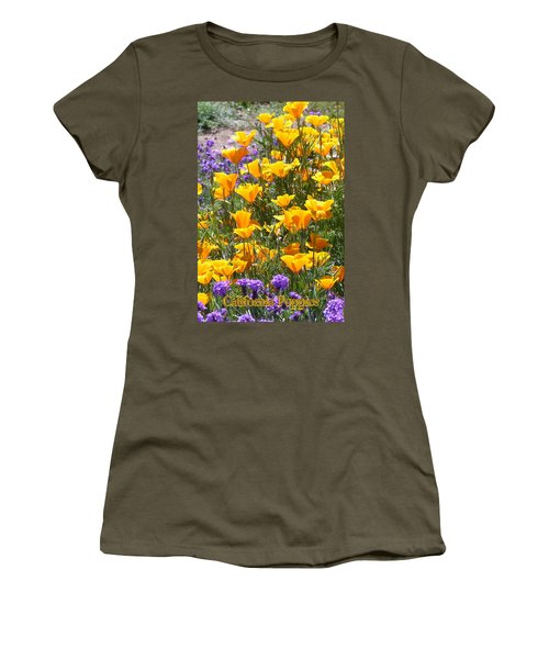 California Poppies Women's T-Shirt (Junior Cut) by Carla Parris