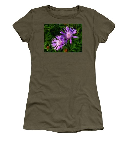 Women's T-Shirt (Junior Cut) featuring the photograph Can Flowers Say Boo by Steve Taylor