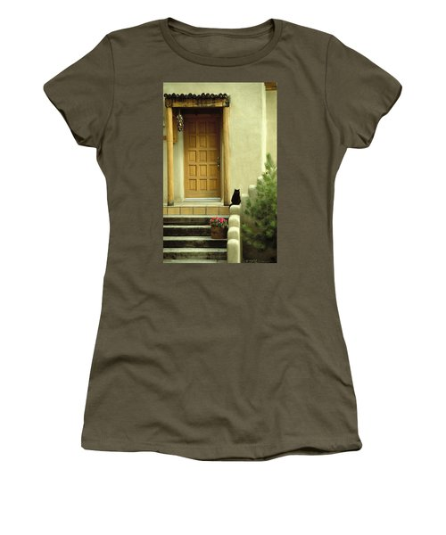 Women's T-Shirt (Junior Cut) featuring the photograph Cat Post by Brent L Ander