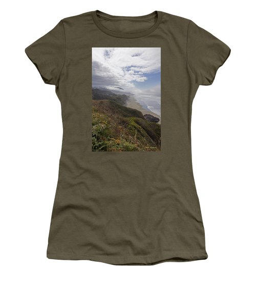 Women's T-Shirt (Junior Cut) featuring the photograph Central Oregon Coast Vista by Mick Anderson