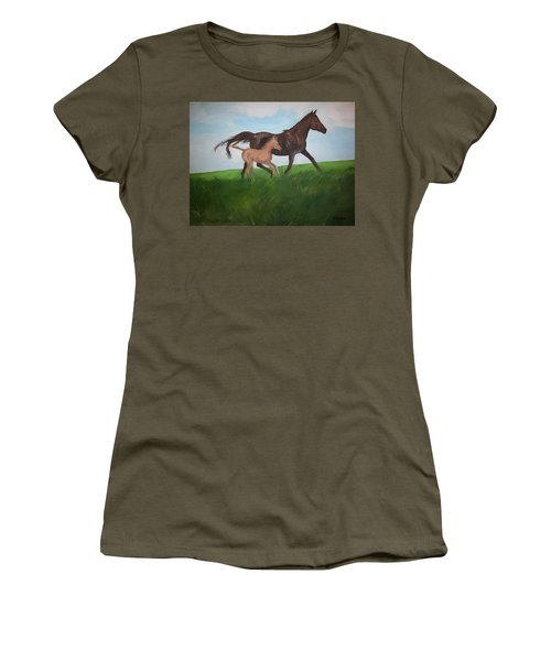 Women's T-Shirt (Junior Cut) featuring the painting Chloe's Dream by George Pedro