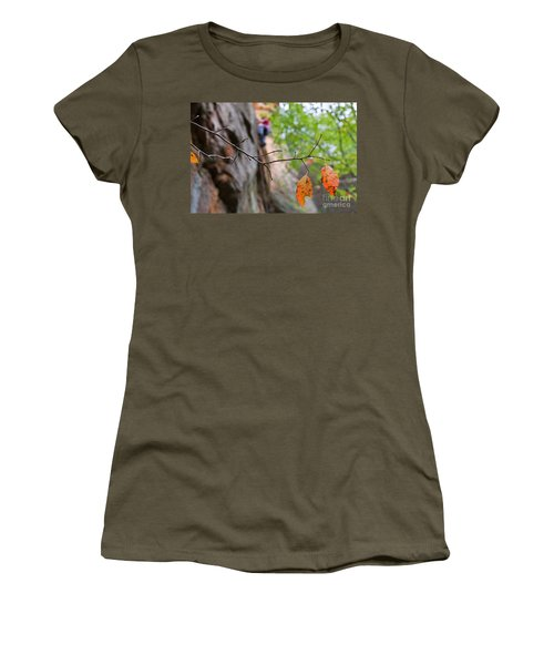 Climber In Fall Women's T-Shirt (Athletic Fit)
