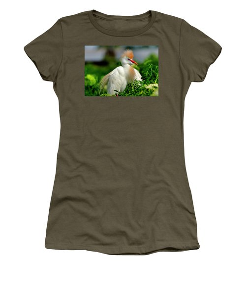Colorful Cattle Egret Women's T-Shirt