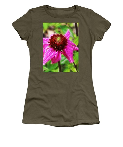 Coneflower Women's T-Shirt (Junior Cut) by Judi Bagwell