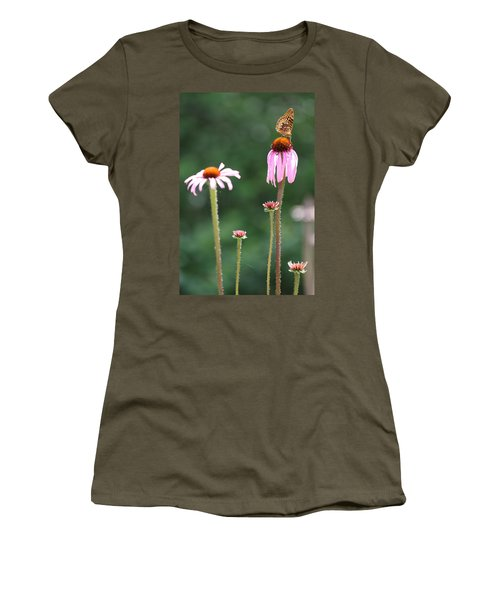 Coneflowers And Butterfly Women's T-Shirt