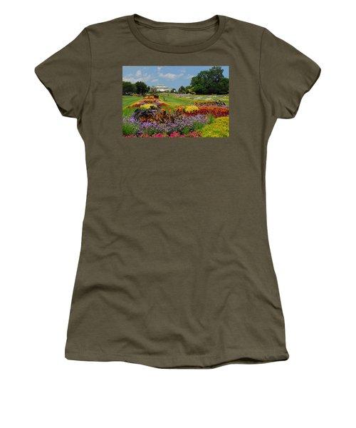 Conservatory Gardens Women's T-Shirt (Junior Cut) by Lynn Bauer