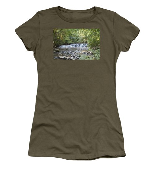 Women's T-Shirt (Junior Cut) featuring the photograph Corbetts Glen Waterfall by William Norton
