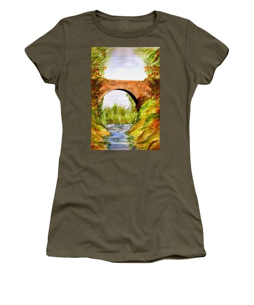 Country Bridge Women's T-Shirt (Athletic Fit)
