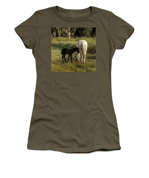 Cracker Foal And Mare Women's T-Shirt (Athletic Fit)