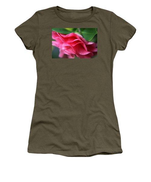 Dancing Petals Of The Camellia Women's T-Shirt