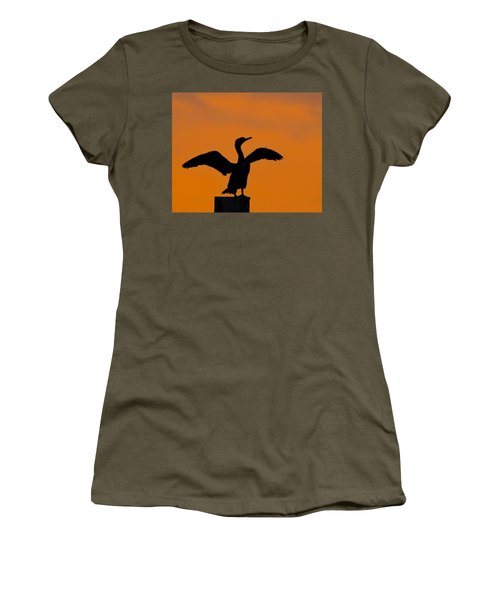 Dawn Of A Double-crested Cormorant  Women's T-Shirt