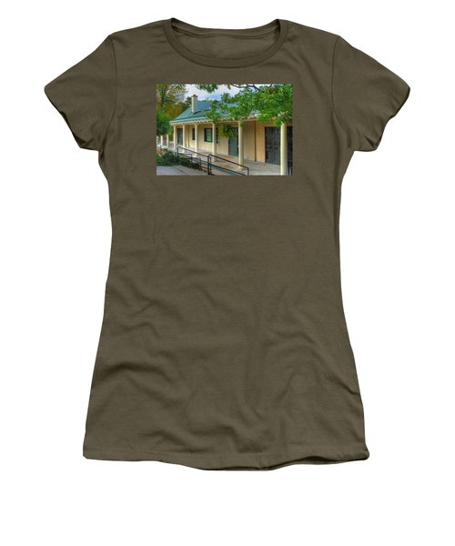 Women's T-Shirt (Junior Cut) featuring the photograph Delaware Park Casino by Michael Frank Jr