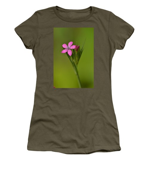 Women's T-Shirt (Junior Cut) featuring the photograph Deptford Pink by JD Grimes