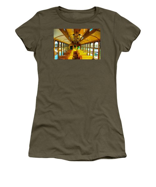 Women's T-Shirt (Junior Cut) featuring the photograph Dining Car by Shannon Harrington