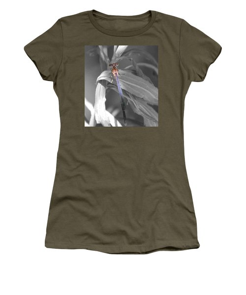 Dragonfly Bw With Color Women's T-Shirt