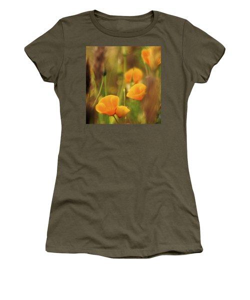 Dream Poppies Women's T-Shirt (Junior Cut) by Ralph Vazquez