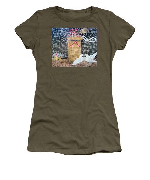 Women's T-Shirt featuring the painting Emblems Of Love by Cynthia Amaral