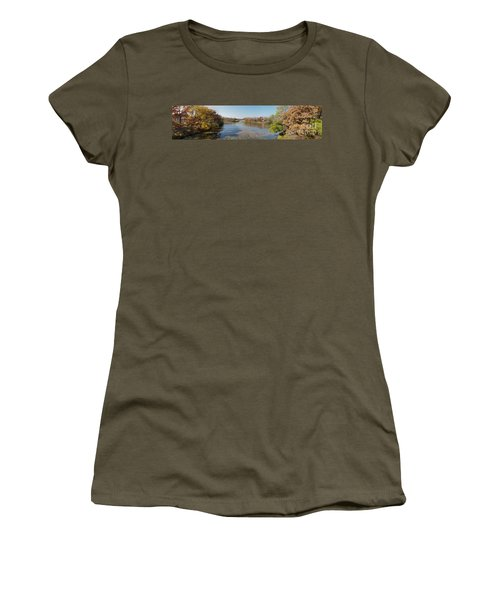 Women's T-Shirt (Junior Cut) featuring the photograph Erie Canal Panorama by William Norton
