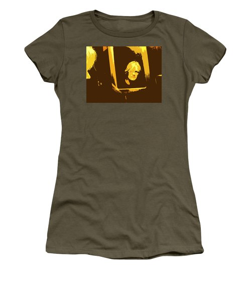 Face In The Mirror Women's T-Shirt (Junior Cut) by Anne Mott
