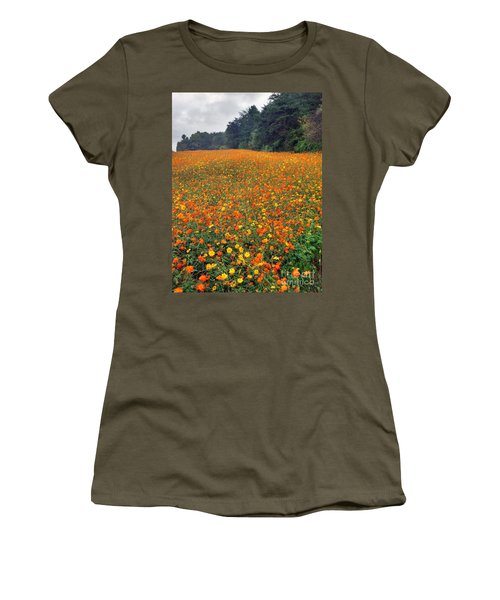 Women's T-Shirt (Junior Cut) featuring the photograph Fall Flowers by Janice Spivey