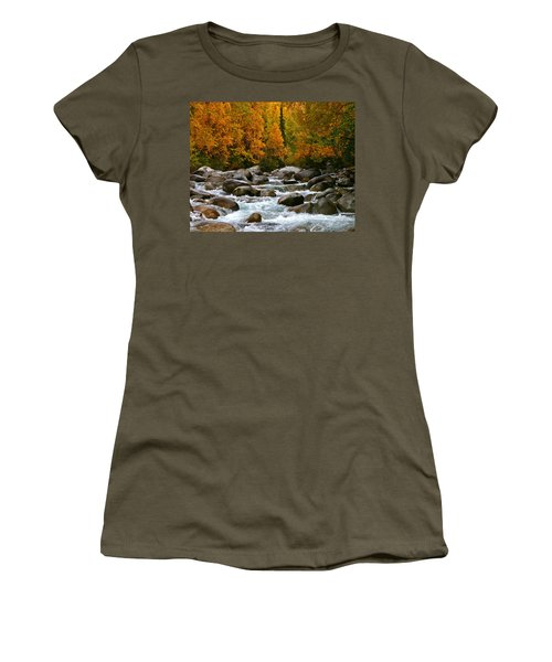 Fall On The Little Susitna River Women's T-Shirt