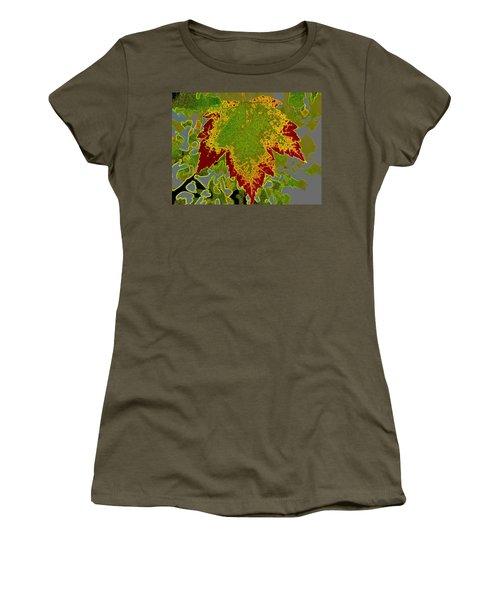 Women's T-Shirt (Junior Cut) featuring the photograph Falling by Kathy Bassett