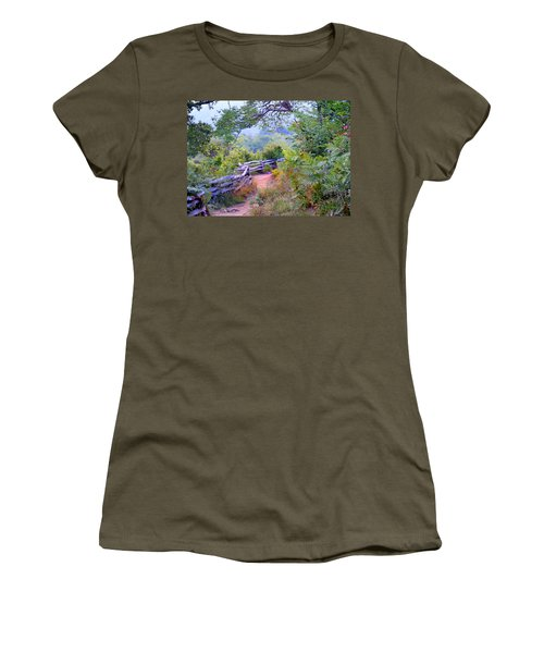 Fence To The Blueberries Filtered Women's T-Shirt