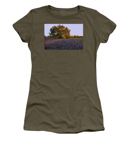 Field Of Blue Women's T-Shirt (Athletic Fit)