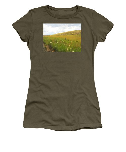 Field Of Dandelions Women's T-Shirt (Junior Cut) by Anne Mott