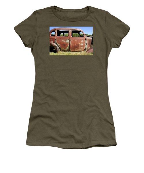 Women's T-Shirt (Junior Cut) featuring the photograph Final Destination by Fran Riley