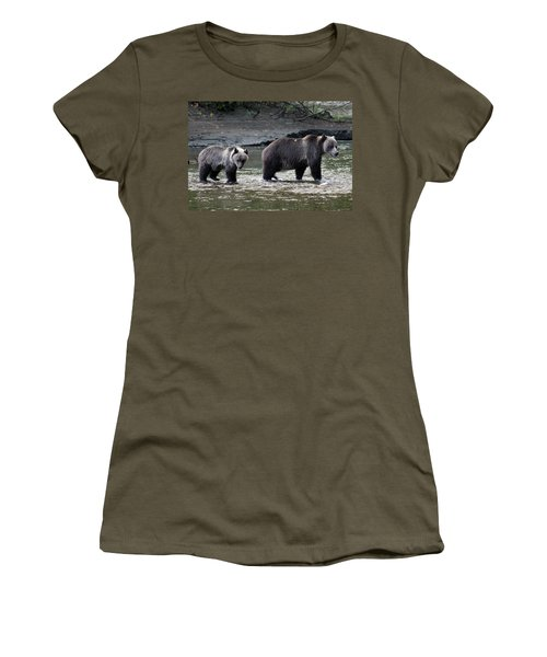 Women's T-Shirt (Junior Cut) featuring the photograph Fishing Lessons by Cathie Douglas