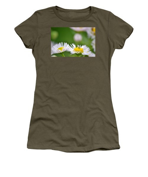 Women's T-Shirt (Junior Cut) featuring the photograph Floral Launch-pad by JD Grimes