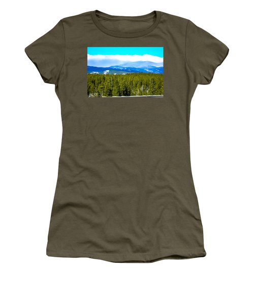 Women's T-Shirt (Junior Cut) featuring the photograph Fog In The Rockies by Shannon Harrington