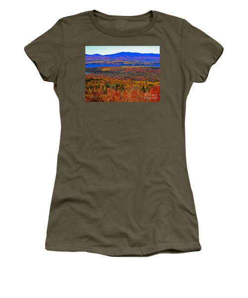 Foliage From Height Of Land Women's T-Shirt (Athletic Fit)