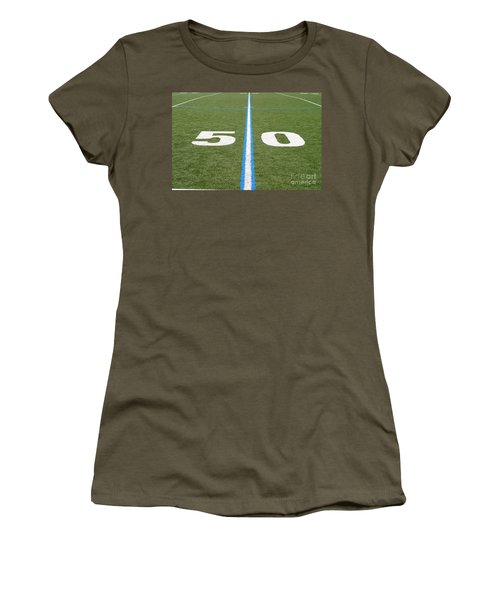 Football Field Fifty Women's T-Shirt (Junior Cut) by Henrik Lehnerer