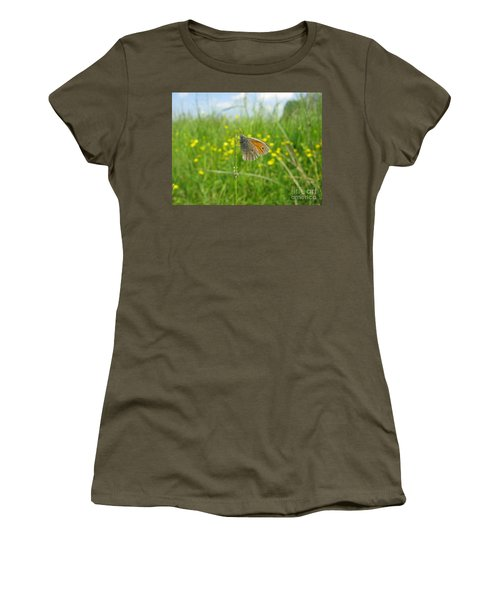 Women's T-Shirt (Athletic Fit) featuring the photograph Fragile Beauty #02 by Ausra Huntington nee Paulauskaite