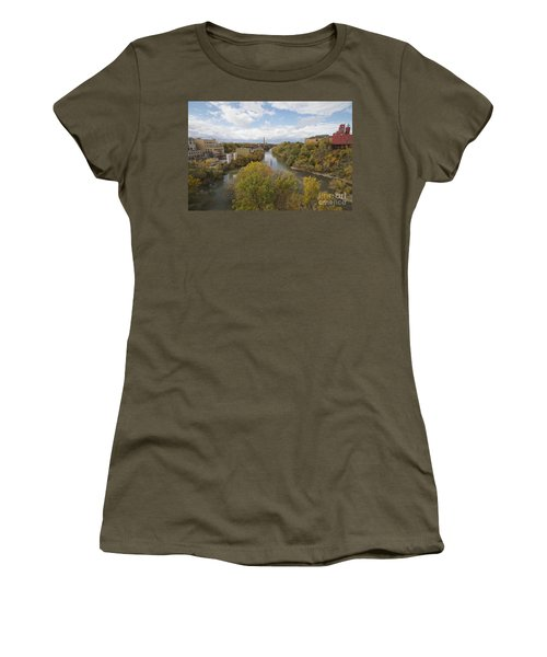 Women's T-Shirt (Junior Cut) featuring the photograph Genesee River by William Norton