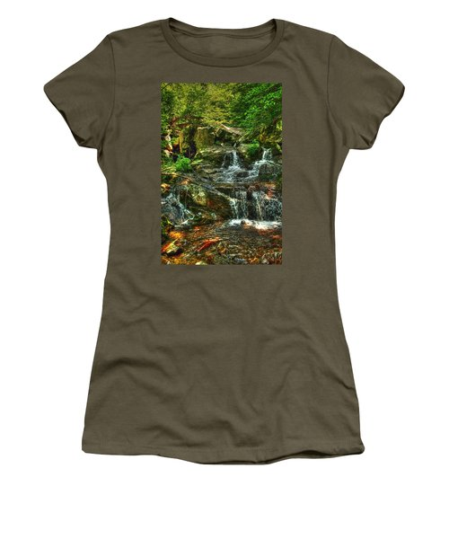 Gentle Falls Women's T-Shirt (Junior Cut) by Dan Stone